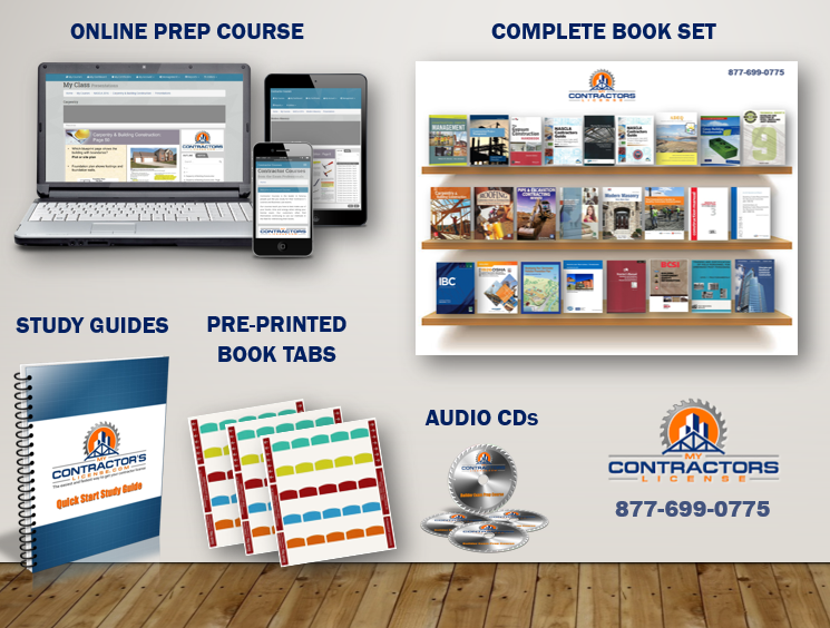 Arizona NASCLA Commercial Builder License Exam Prep Course with books